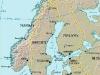 Mapa da Escandinávia